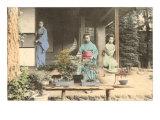 Japanese Girls with Bonsai Art