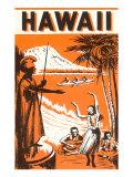 Hawaii, King Kamehameha and Outriggers Arte