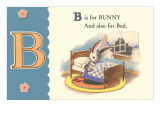 B is for Bunny Affischer