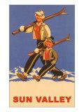 Skiing in Sun Valley, Idaho, Graphics Affischer