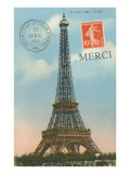 Merci, Eiffel Tower Poster