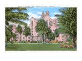 Royal Hawaiian Hotel, Honolulu, Hawaii Premium Giclee-trykk
