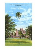Royal Hawaiian Hotel, Honolulu, Hawaii Póster