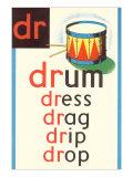 DR for Drum Plakater