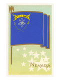 Flagge Nevadas Kunstdrucke
