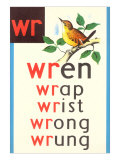 WR for Wren Posters