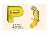P is a Parrot Stampe