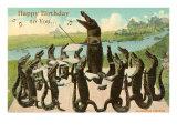 Joyeux anniversaire, chœur d'alligators Affiches