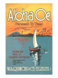 Sheet Music to Aloha Oe Pósters