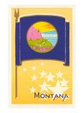 Flag of Montana Posters