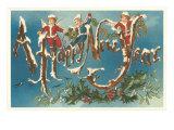 Victorian Santa Angels Poster