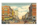 Broughton Street, Savannah, Georgia Kunstdrucke
