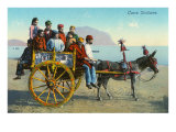 Sicilian Cart with Donkey, Italy Poster