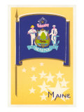 Flag of Maine Poster