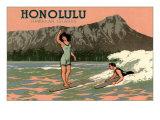 Surf Riders, Honolulu, Hawaii, Graphics Arte