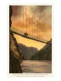Kaibab Suspension Bridge, Grand Canyon Print