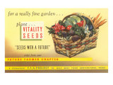 Vitality Seeds Advertisement, Vegetable Basket Posters