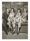 Art Linkletter with Bathing Beauties Láminas
