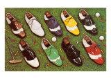 Chaussures de golf Affiche