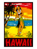 Hawaii, Hula Girl Plakat