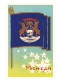Flag of Michigan Poster