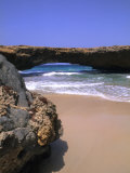 Natural Beach Bridge, Aruba, Caribbean Reproduction photographique par Bill Bachmann
