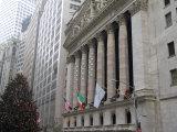 New York Stock Exchange at Christmas, New York City, New York, USA Reproduction photographique par Bill Bachmann