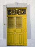 Colorful Doors, Merida, Yucatan, Mexico Fotografisk tryk af Julie Eggers