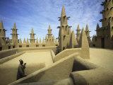 West African Man at Mosque, Mali, West Africa Reproduction photographique par Ellen Clark