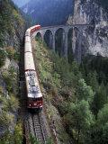 Tall Rock Bridge, Bernina, Switzerland Photographic Print by Gavriel Jecan