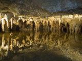 Stalactites Stalagmites, Louray Caverns, Virginia, USA Fotografie-Druck von John & Lisa Merrill