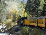 The Durango & Silverton Narrow Gauge Railroad, Colorado, USA Stretched Canvas Print by Cindy Miller Hopkins