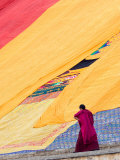 Labrang Monastery Monk, Xiahe, Gansu Province, China Photographic Print by Philip Kramer