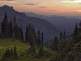 View of the North Cascade Mountains, Tatoosh Wilderness, Washington State, USA Photographic Print by Janis Miglavs