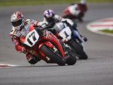 Motorcycle Racer, Mid Ohio Raceway, Lexington, Ohio, USA Fotografisk trykk av Adam Jones