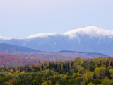 Dusk and Mount Washington, White Mountains, Bethlehem, New Hampshire, USA Premium Photographic Print by Jerry & Marcy Monkman