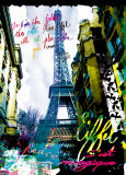 Magique Eiffel Poster by  Kaly
