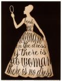 Script Dress Kunstdrucke von Lisa Vincent