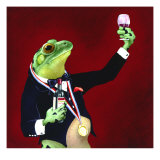 Sommelier Premium Giclee Print by Will Bullas