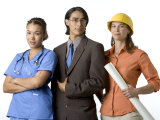 Young Adults with Careers in Medicine, Business and Engineering Photographic Print by Dawn Kish
