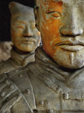 Pigment Remains on 2,200 Year Old Terra Cotta Soldier Statue Photographic Print by O. Louis Mazzatenta