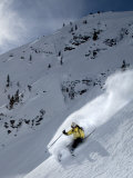 Young Woman Skis Through White Powder in the Backcountry Photographic Print by Dawn Kish