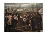 Surrender of Breda, by Velazquez, in the Prado Museum in Madrid Lámina fotográfica por Courtellemont, Gervais
