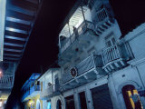 Balconies Dominate the Streets in Cartagena, Colombia Photographic Print by O. Louis Mazzatenta