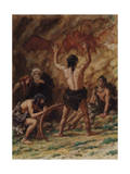 Cro-Magnon Men Produced Many Examples of Cave Drawings Photographic Print by Charles Knight