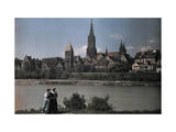 View of the City of Ulm, Dating Back to the Middle Ages Photographic Print by Hans Hildenbrand