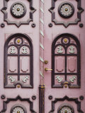 Typical Traditional Decorated Wooden Door Tallinn Estonia Photographic Print by  Keenpress