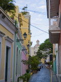 Street in Colorful Old San Juan, Puerto Rico Photographic Print by Taylor S. Kennedy