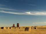 Derelict Grain Elevators Stand in the Prairies Fotoprint av Pete Ryan