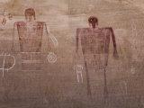 Prehistoric Anasazi Pictograph Panel, known as the Big Man Panel Reproduction photographique par Scott Warren